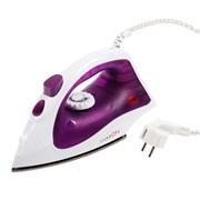 (1017131) Утюг LuazON LU-09, 1600 Вт, тефлоновая подошва, фиолетовый 3549080