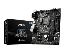 (1022564) Материнская плата MSI H310M PRO-M2 PLUS Soc-1151v2 Intel H310 2xDDR4 mATX AC`97 8ch(7.1) GbLAN+VGA+D