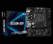 (1021159) Материнская плата Asrock B550M-HDV Soc-AM4 AMD B550 2xDDR4 mATX AC`97 8ch(7.1) GbLAN RAID+VGA+DVI+HD