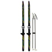 """(1023031) Лыжи подростковые """"Ski Race"""" с палками (130/100) цвета микс  1017155"""