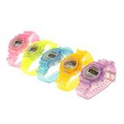 (1022369) Часы наручные детские электронные, ремешок силикон, на циферблате цветы, микс 1197090