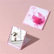 (1022403) Зеркало складное пластик квадрат (1) без увел 7*6,5см Лотос   3506776