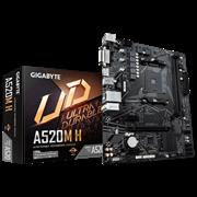 (1021907) Материнская плата Gigabyte A520M H Soc-AM4 AMD A520 2xDDR4 mATX AC`97 8ch(7.1) GbLAN RAID+DVI+HDMI