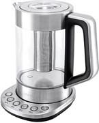 (1023106) Чайник Kitfort КТ-622 1.7л. 2500Вт серебристый (стекло)