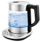 (1023107) Чайник Kitfort КТ-648 1л. 2200Вт нержавеющая сталь/черный (стекло)