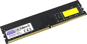 (1023902) Модуль памяти GOODRAM DDR4 Module capacity 8Гб Количество 1 2666 МГц Множитель частоты шины 19 1.2 В GR2666D464L19S/8G