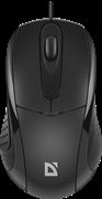 (1024504) Проводная оптическая мышь Standard MB-580 черный,3 кнопки,1000 dpi DEFENDER