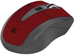 (1023493) Беспроводная оптическая мышь Defender Accura MM-965 серо-красная (2.4 ГГц, 6 кнопок,1600 dpi, 2 х АAA)