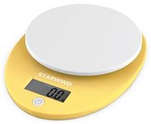 (1024583) Весы кухонные электронные Starwind SSK2259 макс.вес:5кг желтый