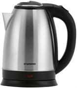 (1024325) Чайник Starwind SKS1051 1.8л. 1500Вт серебристый матовый/черный (нержавеющая сталь/пластик)