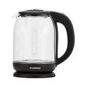 (1024322) Чайник Starwind SKG1052 1.8л. 1500Вт коричневый/бронзовый (стекло)