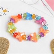 """(1024164) Браслет детский """"Выбражулька"""" бабочки, цвет МИКС 442144"""