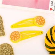 """(1023960) Невидимка для волос """"Бодрящий лимон"""" (набор 2 шт) 6 см, жёлтый   4743662"""