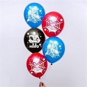 """(1025152) Воздушные шары """"Super hero"""", Человек-паук (набор 5 шт) 12 дюйм 5358309"""