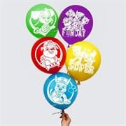 """(1025153) Воздушные шары """"Super"""", Щенячий патруль (набор 5 шт) 12 дюйм 5358311"""