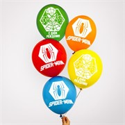 "(1025162) Воздушные шары, набор ""Spider Man, Happy Birthday"", Marvel (набор 5 шт)   5798008"