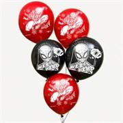 """(1025166) Воздушные шары """"Spider"""", Человек-паук (набор 5 шт) 12 дюйм 6622873"""