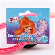 (1026164) Косички для волос на резинке, розовый, WINX   6259425