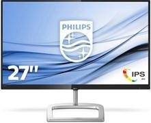 (1023483) Монитор жидкокристаллический PHILIPS Монитор LCD 27'' [16:9] 1920х1080(FHD) IPS, GLARE, 250cd / m2, H178° / V178°, 1000:1, 20M:1, 16.7M, 5ms, VGA, DVI, HDMI, DP, Tilt, Speakers, Audio out, 2Y, Черный, Серебряный