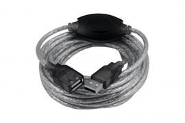"""(1009881) OXION кабель-удлинитель USB2.0 10m AM-AF с усилителем сигнала, серия """"Стандарт"""", двойной экран"""