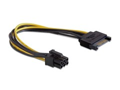 (1010200) Cablexpert Разветвитель питания SATA->PCI-Express 6pin, для подключения в/к PCI-Е (6pin) к б/п ATX (CC-PSU-SATA)