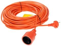 (1010527) PowerCube Удлинитель в бухте (PC-E1-B-30) 6А, 1 розетка, 30 м. 2*0,75мм2, оранжевый