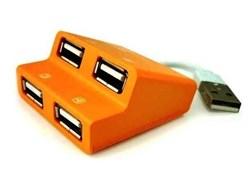 (1010545) USB-хаб E-Blue Dynamic желтый, на 4 порта, USB 2.0 (EHB038YE)