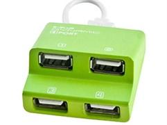 (1010546) USB-хаб E-Blue Dynamic зелёный, на 4 порта, USB 2.0 (EHB038GN)
