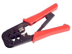 (1009515) Универсальные клещи Gembird T-568R для обжима и разделки кабеля RJ-11 (6p4c/6p2c), RJ-12 (6p6c), RJ-45 (8p8c) с фиксатором