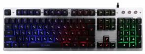 (1009605) Клавиатура Oklick 770G серый/черный USB Multimedia LED