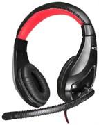 (1009598) Наушники с микрофоном Oklick HS-L100 черный/красный 2м мониторы (NO-530)