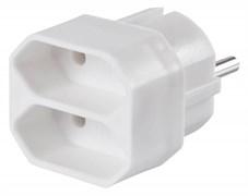 (1008904) Сетевой разветвитель Buro BU-PS2F-W (2 розетки) белый (пакет ПЭ)