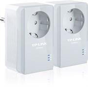 (1008931) Базовый комплект адаптеров Powerline стандарта AV500 со встроенной розеткой TP-LINK TL-PA4010PKIT