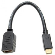 (107067)  Переходник mini HDMI (M) -> HDMI (F), 5bites (BC-HDC2A1), v1.4b, 0,15m, позолоченные контакты
