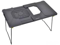 """(195377)  Столик-трансформер для ноутбука Orient FTNB-03, до 19"""", раздвижная рабочая поверхность от 38 до 50 см, 12 см вент., Black"""