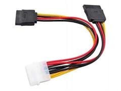 (1007830)  Кабель питания VCOM (VPW7572), molex 4pin -> SATA 15pin/ SATA 15pin, питание на два устройства