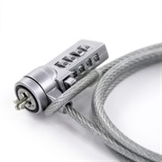 (1008054)  Защитная система тросик для ноутбука CBR CL-05, Kensington Lock, кодовый, 1м, блистер, RTL, CL 05