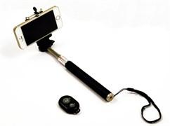 (1005854) Монопод (палка для селфи) c Bluetooth KS-is  (KS-265Black) черный