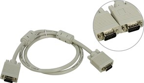 (1007398) Кабель 5bites APC-133-010 VGA сигнальный HD15M/HD15M, ферр.кольца, 1м.