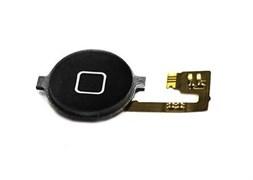 (1007546) Кнопка HOME в сборе с механизмом и шлейфом NT для Apple iPhone 4 черная