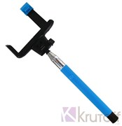 (1007572) Монопод (палка для селфи) bluetooth для селфи Z07-5 (голубой)
