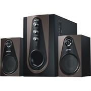 "(1007679) Perfeo ""Scenic"" PF-103-BT, чёрно-коричневый {BLUETOOTH, FM-тюнер, USB/SD, ПДУ, 20Вт+5х2Вт}"