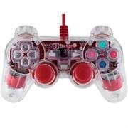 (1007259) Проводной USB геймпад Oxion OGP02RD с вибрацией и LED подсветкой, 1.5м, красный (OGP02RD)