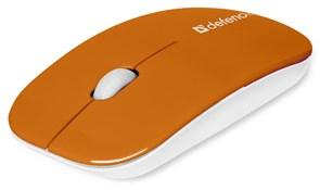 (182921) Мышь беспроводная Defender NetSprinter MM-545, 1000 dpi, оранжевая/белая (52546)