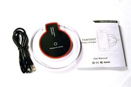 (1007076) Зарядное у-во беспроводное USB KS-is (KS-281R-B) крас+чер
