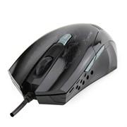 (1006450) Мышь CROWN Gaming CMXG-1100BLAZE Black (2400 dpi, красная подсветка, 6 кнопок)