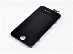 """(1006421) Матрица и тачскрин (модуль) NT для Apple iPhone 4S, дисплей 3.7"""", AAA (1-ая категория). Черный цвет."""