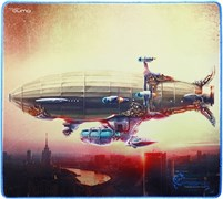(1008569)  Коврик для мыши QUMO Dragon War Moscow Zeppelin, 400x355x3
