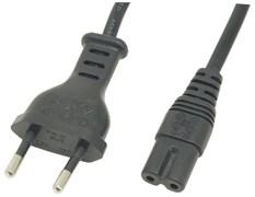 (119377)  Кабель питания для аудио-видео техники IEC-320-C7 (F) -> розетка 220V,  1.8m, 2 pin, Белый
