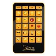 """(1110274) CBR Simple Клавиатура """"S12"""",  24 кл.(смайлы на цифровом блоке), USB, S12"""